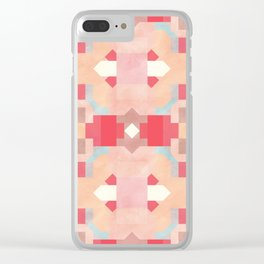 Geometric Happiness Clear iPhone Case