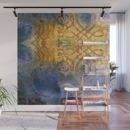 Blue and Gold Wall Mural