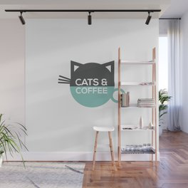 Cats and coffee Wall Mural