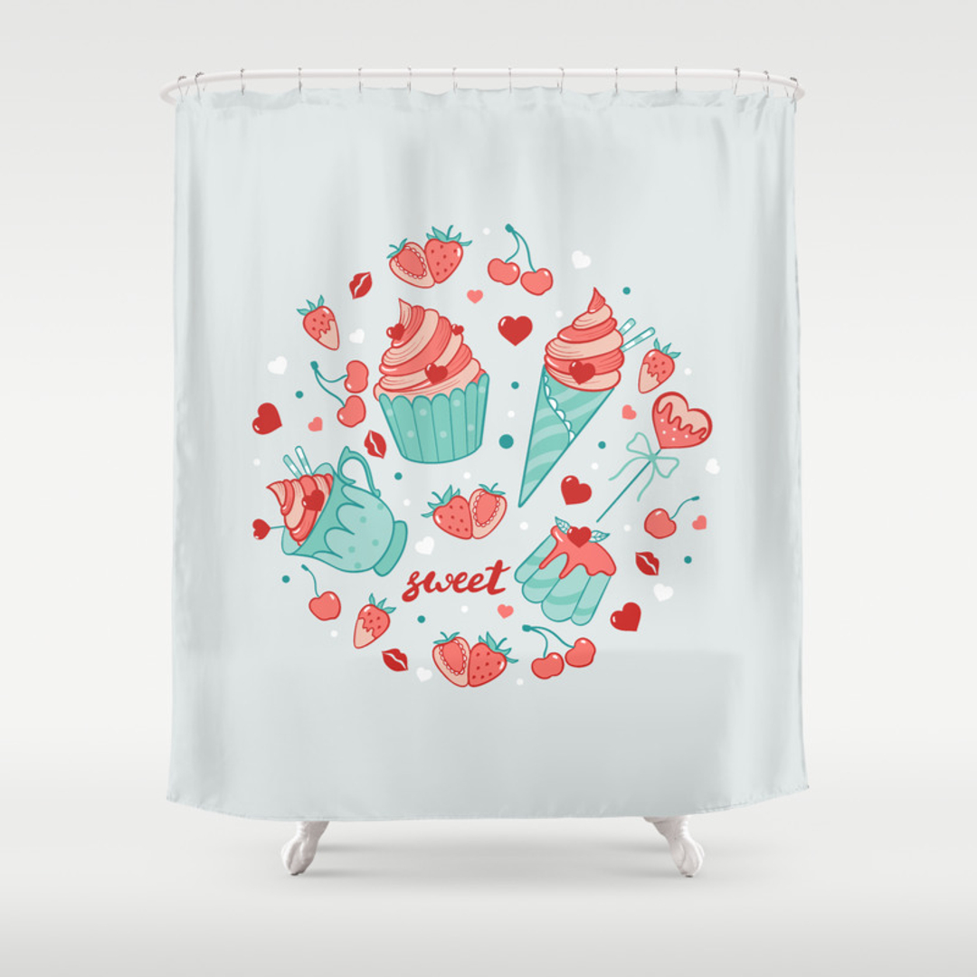 Lollypop Shower Curtains | Society6