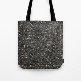 Gray Hematite Close-Up Crystal Tote Bag