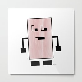 Square Peg Metal Print