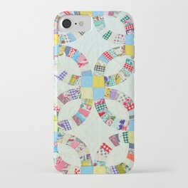 Colorful quilt pattern iPhone Case