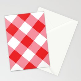 Gingham - Red Stationery Cards