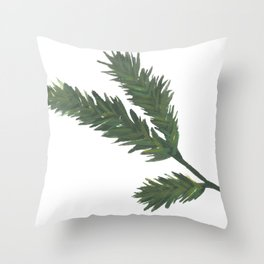 Watercolor Pine Sprig Throw Pillow