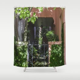 Charleston SC No.2 Hidden Garden on Rainbow Row Shower Curtain