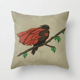 Super Bird Throw Pillow