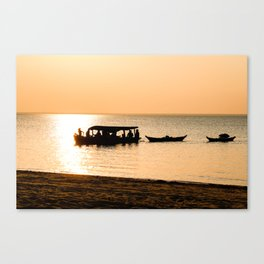 Amazon Boat Canvas Print