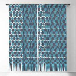 Cubist Ornament Pattern Blackout Curtain