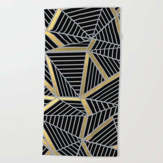 Ab 2 Silver and Gold Beach Towel