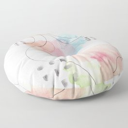180805 Subtle Confidence 11| Colorful Abstract |Modern Watercolor Art Floor Pillow