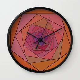 swirling pentagon 1 Wall Clock
