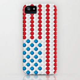 Golf Ball American Flag iPhone Case