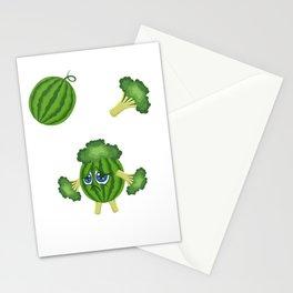 Melon Broccoli Sad Vegan And Emotional Gift Stationery Cards