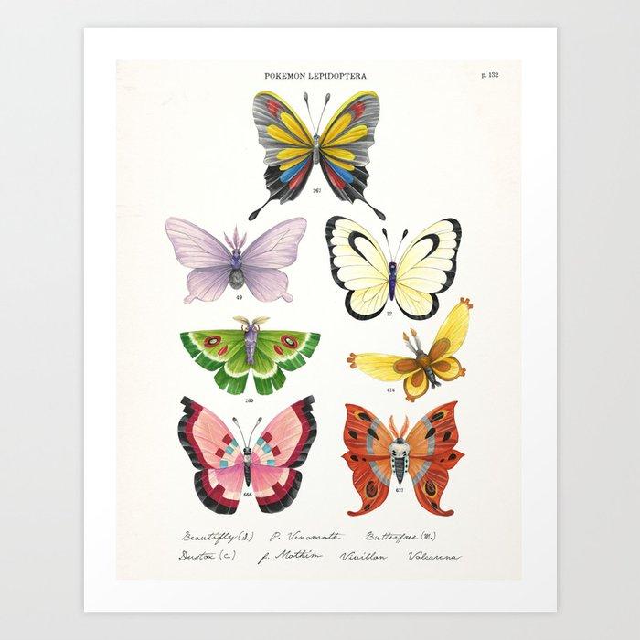 Butterfly Pokémon of the World Art Print