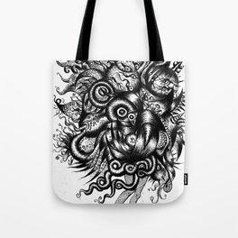 Spaceship Girl_Black Tote Bag