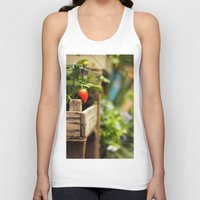 strawberry Tank Tops featuring Strawberry by Nina's clicks