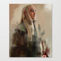 thranduil Canvas Prints featuring Thranduil by Wisesnail