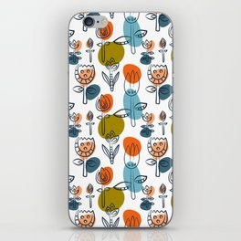 Pattern in Nordic Floral Style #6 iPhone Skin
