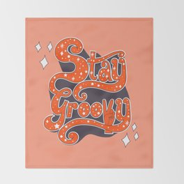 Stay Groovy Throw Blanket