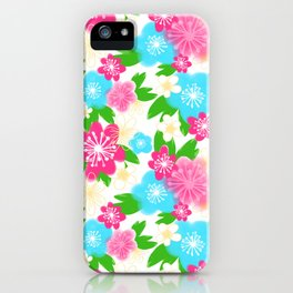 04 Pattern of Watercolor Flowers iPhone Case