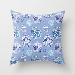 Chinoiserie Ginger Jar Collection No.6 Throw Pillow
