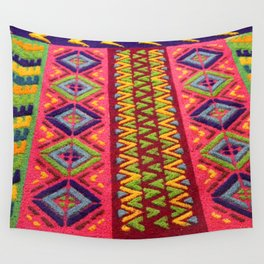 Colorful Guatemalan Alfombra Wall Tapestry