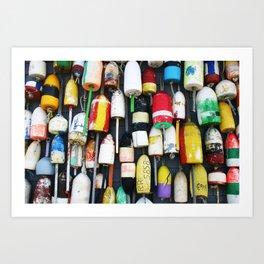 "Captured Photography Salt Series ""Buoys"" Art Print"