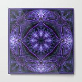 Kaleidoscope No.40 - Purple Pizzazz Metal Print