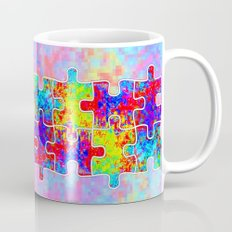 Autism Colorful Puzzle Pieces Mug