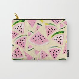 Watermelon Twist Vibes #6 #tropical #fruit #decor #art #society6 Carry-All Pouch