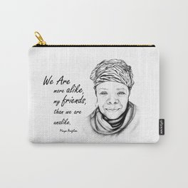 Maya Angelou Quote from Human Family Carry-All Pouch
