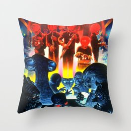 Space Alien Bar Band Throw Pillow