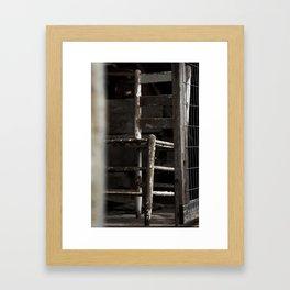 Old Farm Barn Chair Framed Art Print