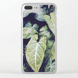 Jungle leaf - vintage Clear iPhone Case