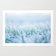 Frosty morning Art Print