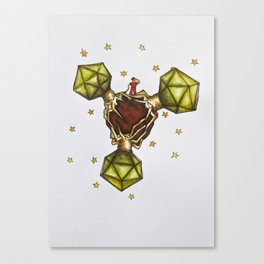 The Sciencey Little Prince and Viruses. Canvas Print