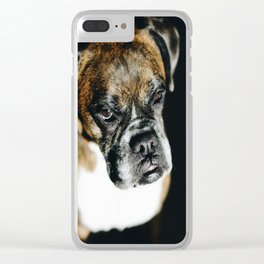 Boxer Dog Clear iPhone Case