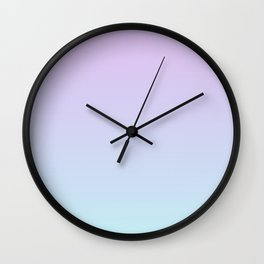 Pastel Violet Mint Gradient Wall Clock