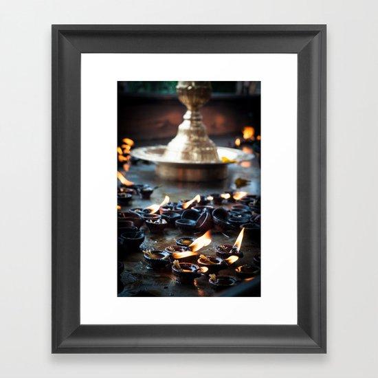 Divine Diyas Framed Art Print
