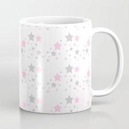 Pink Grey Gray Stars Coffee Mug
