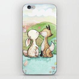Rabbit and fox iPhone Skin
