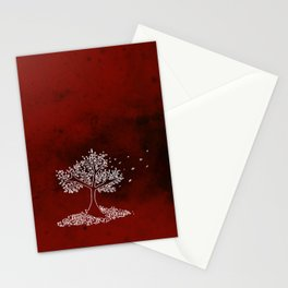 Wind Red Stationery Cards