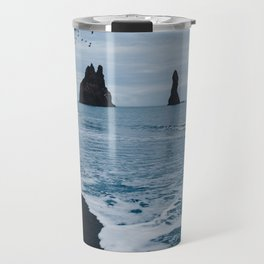 Iceland's Black Sand Beach Travel Mug