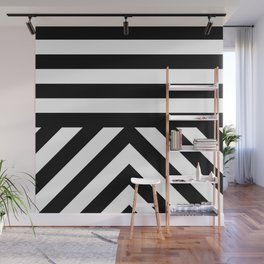 Black Stripes Wall Mural