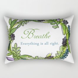 Message Wreath Rectangular Pillow