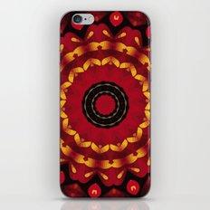 Gold On Red Mandala iPhone & iPod Skin