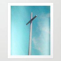 cross Art Prints featuring Cross by Sweet Moments Captured