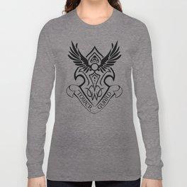 Tower Guard Shield (Black) Long Sleeve T-shirt