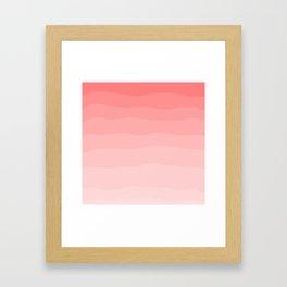 Grapefruit Blush Gradient Ombre Framed Art Print